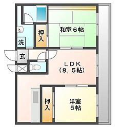 コートイケガミ[4階]の間取り