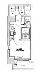 Osaka Metro中央線 九条駅 徒歩6分の賃貸マンション 2階1Kの間取り