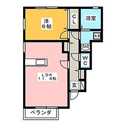 Ambicion A[1階]の間取り