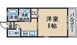 大阪府豊中市服部寿町1丁目の賃貸アパートの間取り