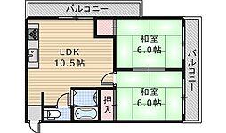 ラネージュ[3階]の間取り