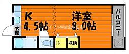 岡山県倉敷市二子丁目なしの賃貸アパートの間取り