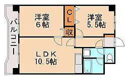 福岡県福岡市早良区原4丁目の賃貸マンションの間取り