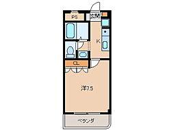 グレース和歌浦[1階]の間取り