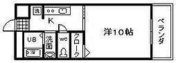 GRECALE忠岡 2階1Kの間取り