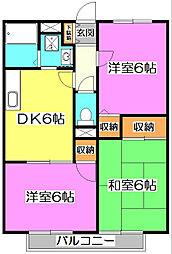 埼玉県ふじみ野市駒西3丁目の賃貸アパートの間取り
