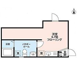 東武伊勢崎線 小菅駅 徒歩7分の賃貸マンション 3階1Kの間取り