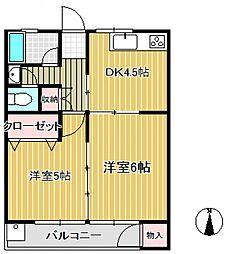 大東マンション[2階]の間取り