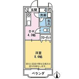 柳畑アラク[1階]の間取り