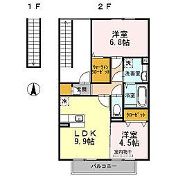メゾンドソレイユ弐番館[2階]の間取り