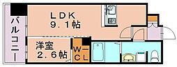 グランフォーレ博多駅東プレミア 2017年築[11階]の間取り
