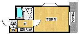 ホーユウコンフォルト天王寺東[5階]の間取り