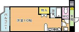 オリエンタル黒崎[1階]の間取り