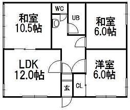 西野アパート[2F号室]の間取り