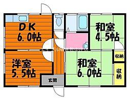 [一戸建] 岡山県倉敷市新田丁目なし の賃貸【/】の間取り