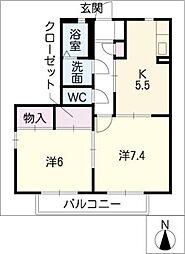 サニー牛田A棟[1階]の間取り
