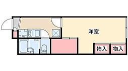 兵庫県神戸市北区山田町下谷上芝山の賃貸アパートの間取り