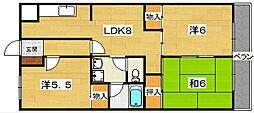 CLAIR N1[2階]の間取り