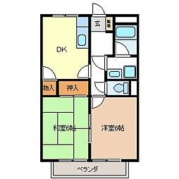 プラージュ・M[2階]の間取り