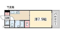 FIVE TWO 5階1Kの間取り