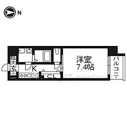 レジデンス京都ゲートシティ304 3階1Kの間取り