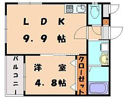 ヴィヴィアンコート松香台[1階]の間取り