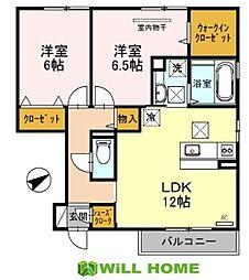 D-room栄谷[105号室]の間取り