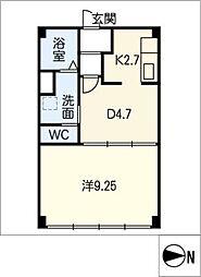 コンフォート二番[3階]の間取り