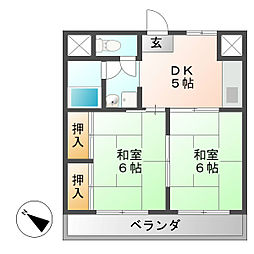 中央ビル[5階]の間取り