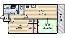 メゾン・ド・ふじ[3階]の間取り