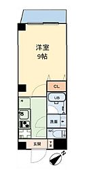 グリュックメゾン本田 4階1Kの間取り