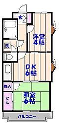 シャトーヤジマ[304号室]の間取り