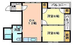 広島県呉市三条4丁目の賃貸マンションの間取り