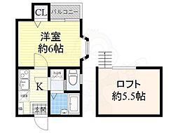 ピュア別府南壱番館 1階1Kの間取り