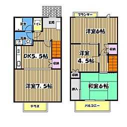 東京都日野市高幡の賃貸アパートの間取り
