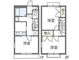 [テラスハウス] 東京都八王子市下恩方町 の賃貸【東京都 / 八王子市】の間取り