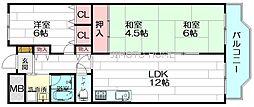 アーク江坂[10階]の間取り