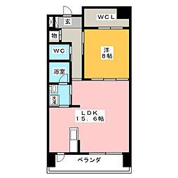 ソレイユ徳川[8階]の間取り