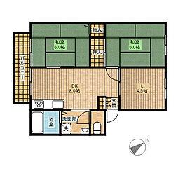 ガーデンフラット1[103号室]の間取り