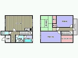 [タウンハウス] 大阪府岸和田市箕土路町2丁目 の賃貸【/】の間取り