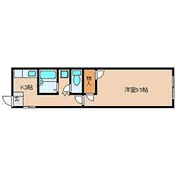 奈良県奈良市中山町西1丁目の賃貸マンションの間取り