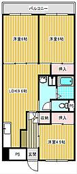 サンコーポラス南港26号棟[607号室]の間取り