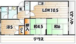 エメラルドマンション中井口[5階]の間取り