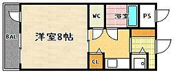 第24長栄アビタシオン[407号室]の間取り