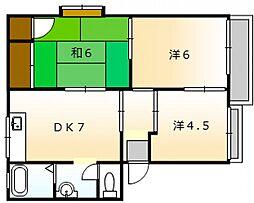 高崎ハイツ D棟[2階]の間取り