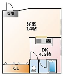 富田ビル[4階]の間取り