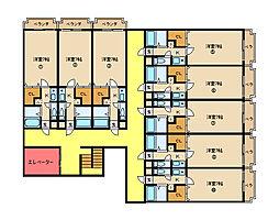アルンハイム新石切[4階]の間取り
