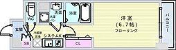 Osaka Metro長堀鶴見緑地線 長堀橋駅 徒歩3分の賃貸マンション 15階1Kの間取り