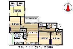 桜台コートハウス[101号室]の間取り