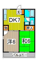 ハイツ平成[1階]の間取り